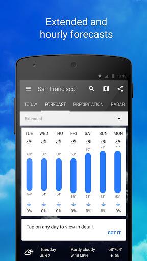 Скачать 1Weather для Андроид