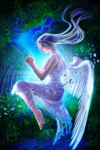 Скачать 3D ангел живых обоев / 3D angel LWP для Андроид