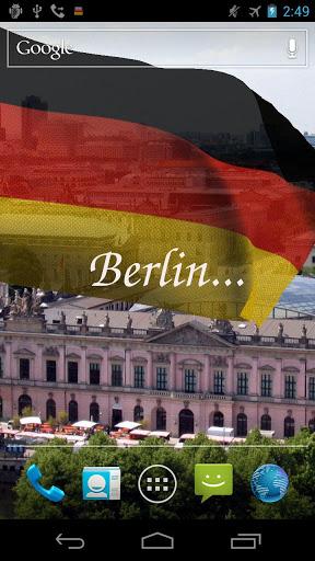 Скачать 3D Флаг Германии LWP для Андроид