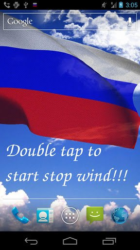 3D Флаг России LWP / 3D Russia Flag Live Wallpaper для Андроид