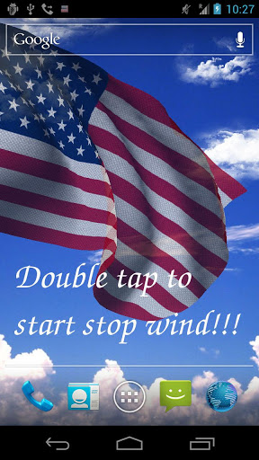 Скачать 3D US Flag Live Wallpaper Free / Американский Флаг для Андроид