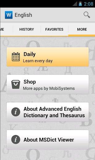 Скачать Advanced English & Thesaurus для Андроид