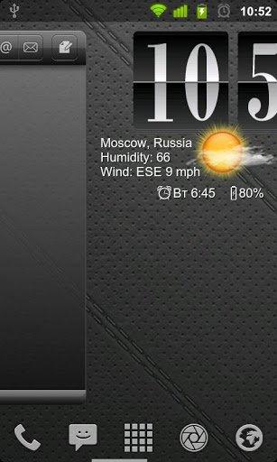 Скачать Аним Цифр Часы с Погодой / Live Wallpaper Flip Clock для Андроид