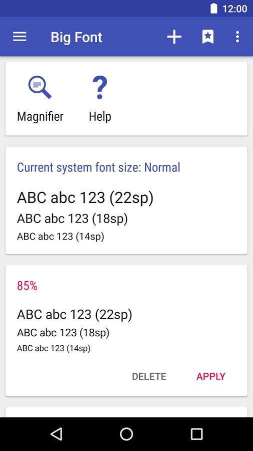 Скачать Big Font для Андроид