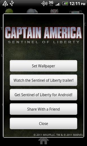 Скачать Captain America Live Wallpaper для Андроид