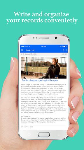 Скачать Diaro — личный дневник для Андроид