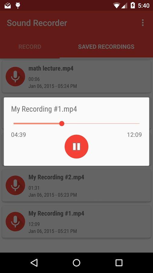 Скачать Easy Sound Recorder для Андроид