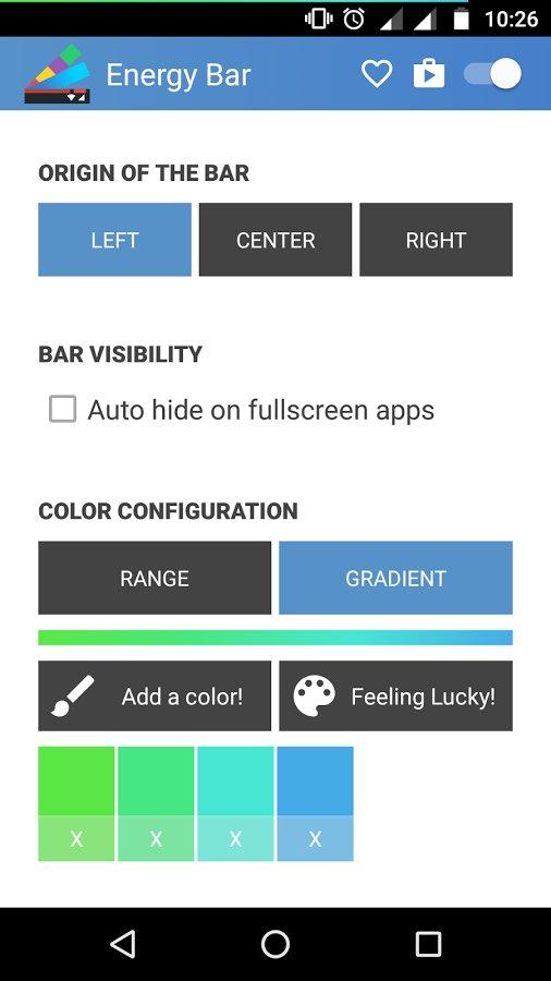 Скачать Energy Bar для Андроид