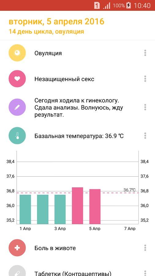 Скачать Feminap — женский календарь для Андроид