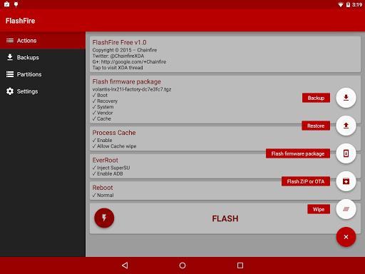Скачать FlashFire для Андроид