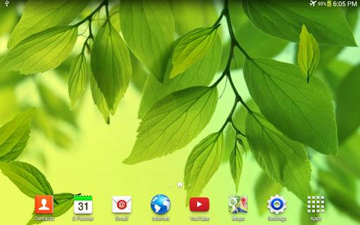 Скачать Galaxy S4 Лист живые обои / Galaxy S4 Leaf Live Wallpaper для Андроид