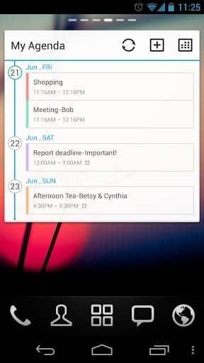 Скачать GO Calendar Widget для Андроид