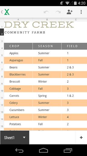 Скачать Google Таблицы для Андроид
