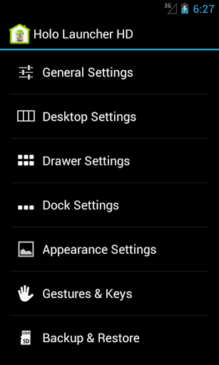 Скачать Holo Launcher HD для Андроид