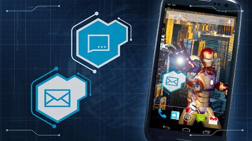 Скачать Iron Man 3 LWP для Андроид