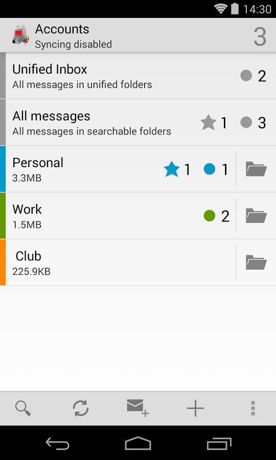 Скачать K-9 Mail для Андроид