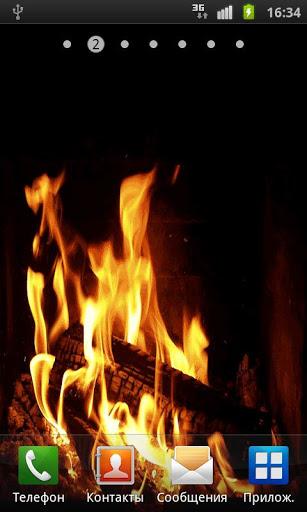 Скачать Камин Живые обои / Fireplace Live Wallpaper для Андроид