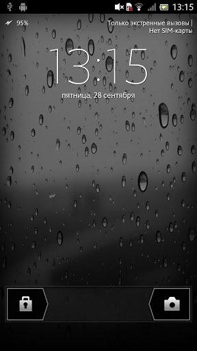 Капли дождя Живые обои / Rain drops LWP для Андроид