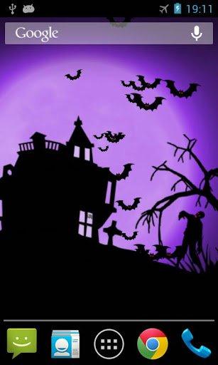 Хэллоуин ночь живые обои / Halloween Night LWP для Андроид