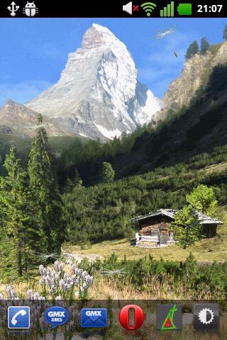 Скачать Летние горы обои / Mountain Summer LWP для Андроид