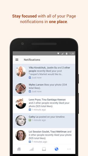 Скачать Менеджер Страниц Facebook для Андроид