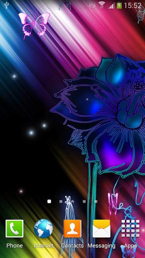 Неоновые Бабочки Живые Обои / Neon Butterfly Live Wallpaper для Андроид