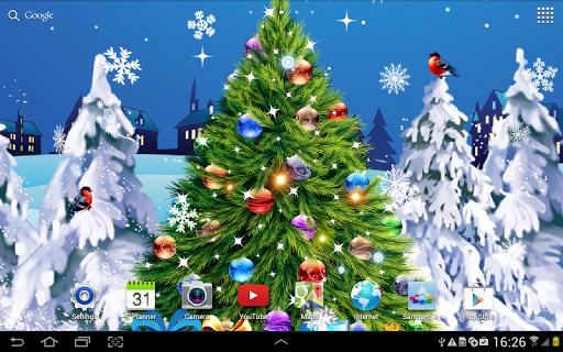 Скачать Новогодняя Ночь Живые Обои для Андроид