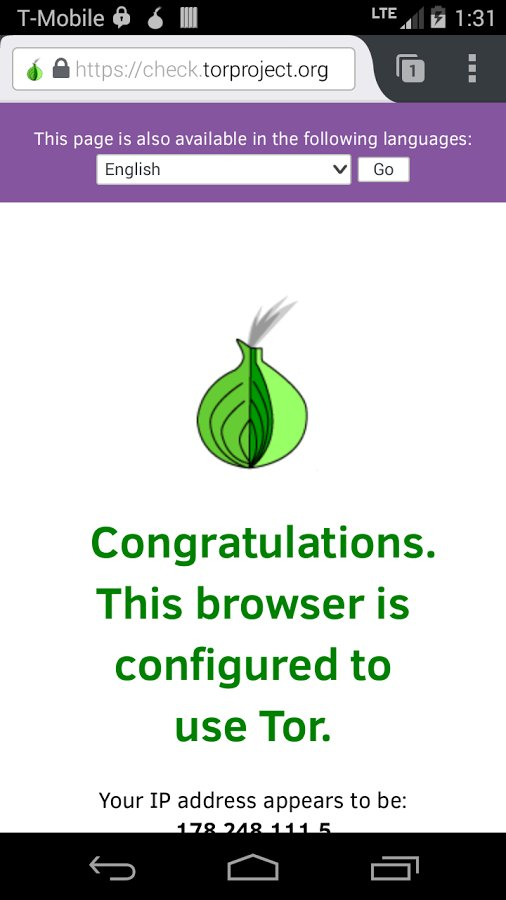 Скачать Orfox: Tor Browser для Андроид