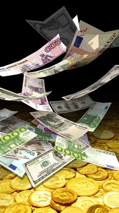 Скачать Падающие Деньги 3D для Андроид