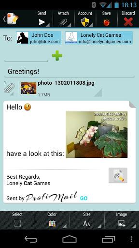 Скачать ProfiMail Go для Андроид