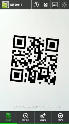 Скачать QR Droid для Андроид