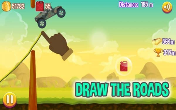Скачать Road Draw: Climb Your Own Hills для Андроид