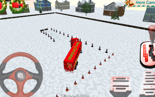 Скачать Рождество Грузовик Парковка 3D для Андроид