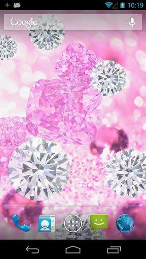 Скачать Розовые Бриллианты Живые Обои / Pink Diamond Live Wallpaper для Андроид