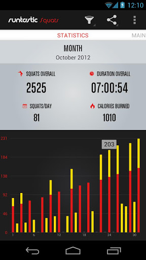 Runtastic Squats для Андроид