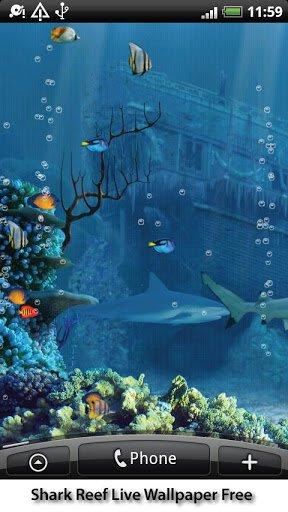 Скачать Shark Reef Live Wallpaper Free для Андроид