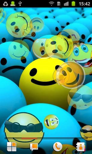 Скачать Смайлики Живые Обои / Smiley LWP для Андроид