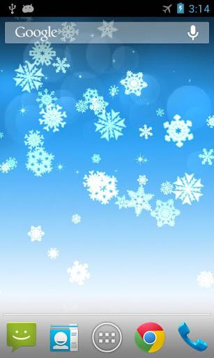 Скачать Снежинка Живые Обои для Андроид