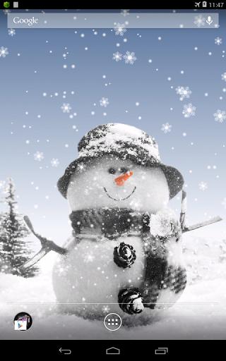 Скачать Snowman Live Wallpaper для Андроид