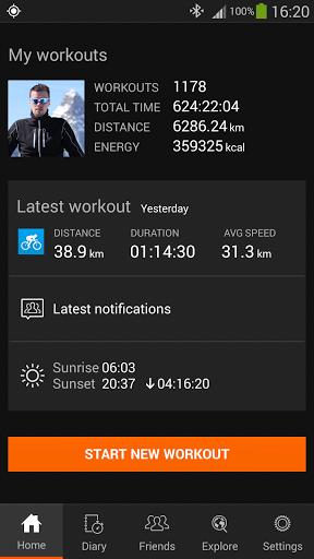 Скачать Sports Tracker для Андроид