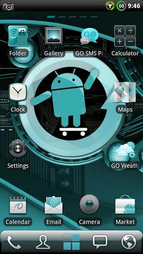 Скачать Тема Cyanogen для Go Launcher для Андроид