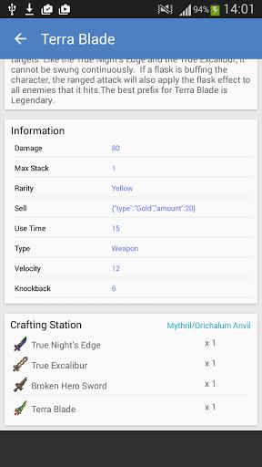 Скачать TerGuide — Terraria Guide для Андроид