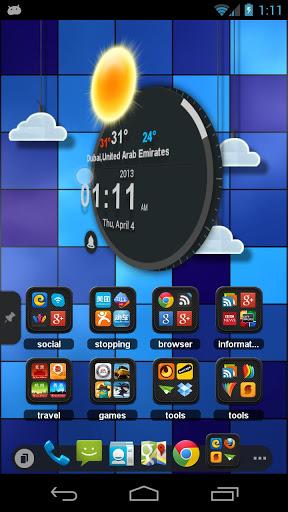 Скачать TSF Clock Widget для Андроид