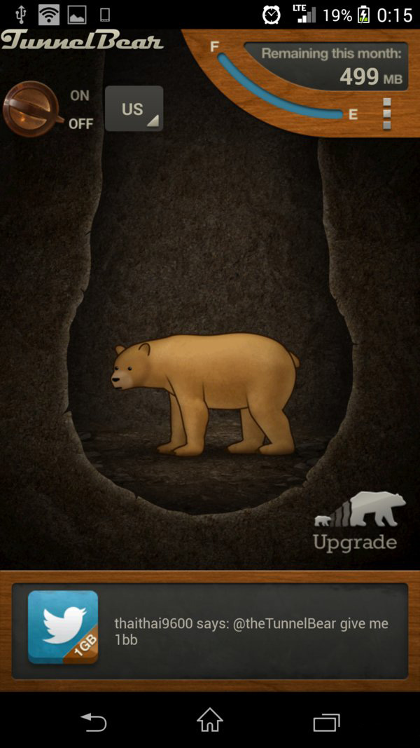 Скачать TunnelBear VPN для Андроид