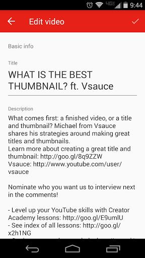 Скачать Творческая студияYouTube для Андроид