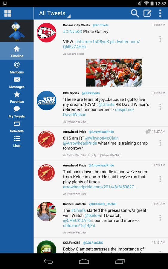 Скачать TweetCaster for Twitter для Андроид