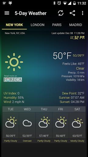 Скачать Виджет Погода и Часы — Android / Weather & Clock Widget для Андроид