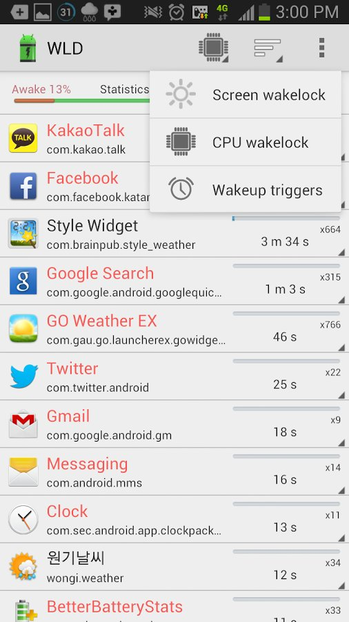 Скачать Wakelock Detector для Андроид