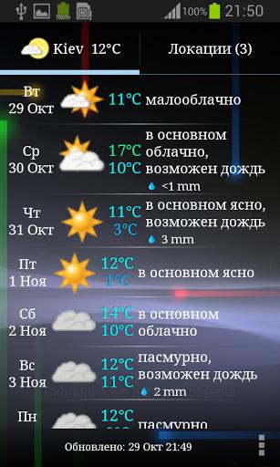 Скачать Weather ACE RU Погода для Андроид