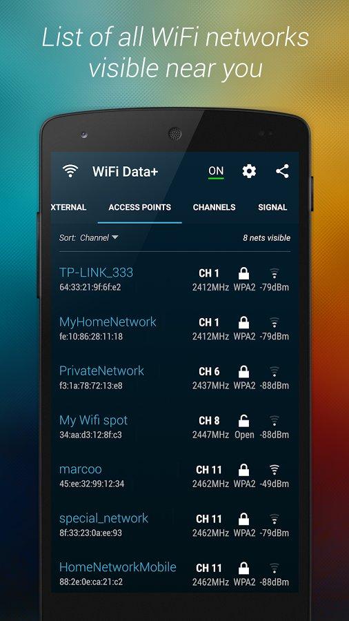 Скачать WiFi Data для Андроид